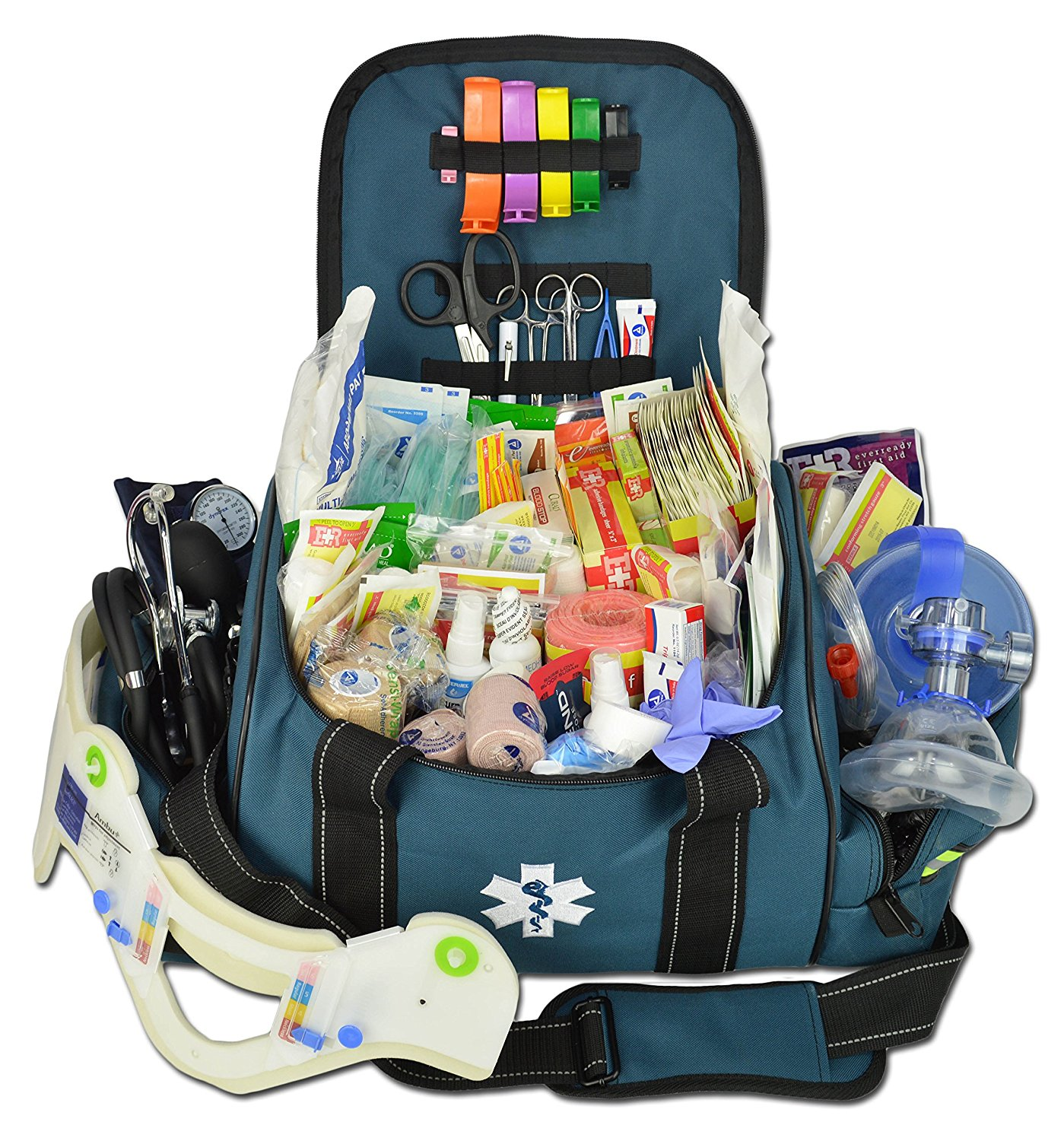 Lightning X Deluxe Stocked Large Emt First Aid Trauma Bag Fill Kit W Emergency Medical Supplies
